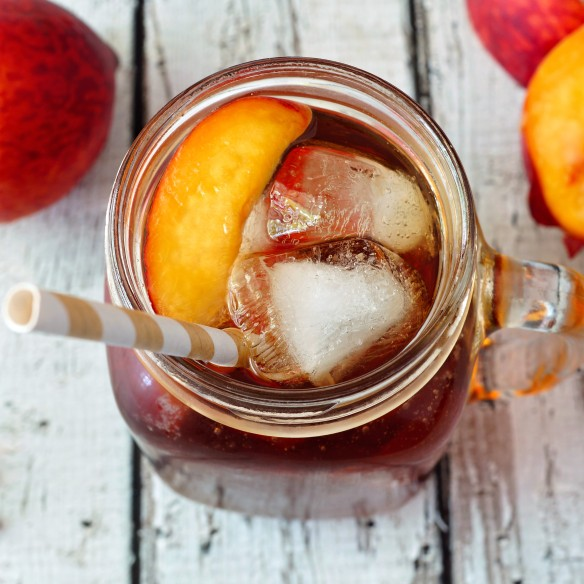 Spiked Peach Iced Tea